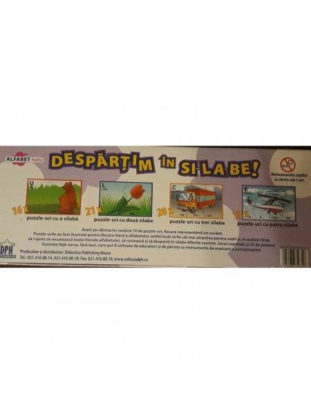 Despartim in silabe - puzzle educativ