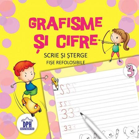 Grafisme si cifre - fise refolosibile pentru grupa mare si clasa pregatitoare