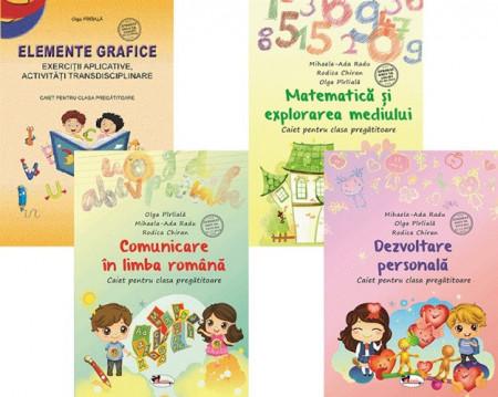 Pachet clasa pregătitoare: Comunicare, Matematica, Elemente grafice, Dezvoltare personala