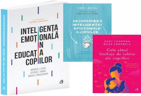Pachet Inteligenta emotionala a copiilor - Dezvoltarea inteligentei emotionale a copiilor, Inteligenta emotionala in educatia copiilor si Cele cinci limbaje de iubire ale copiilor