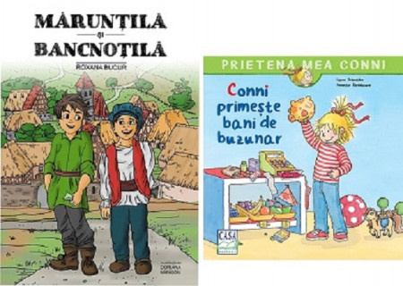 Maruntila si Bancnotila si Prietena mea Conni. Vol. 17 - Conni primeste bani de buzunar - Pachet PROMO despre educatia financiara a copiilor