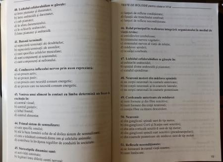 Teste de biologie. Clasa a VII-a - interior 1