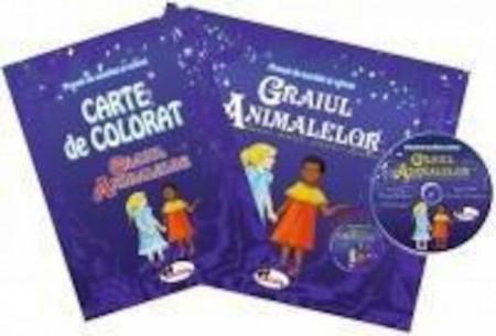 Set carte de povesti, carte de colorat si CD audio cu poveste
