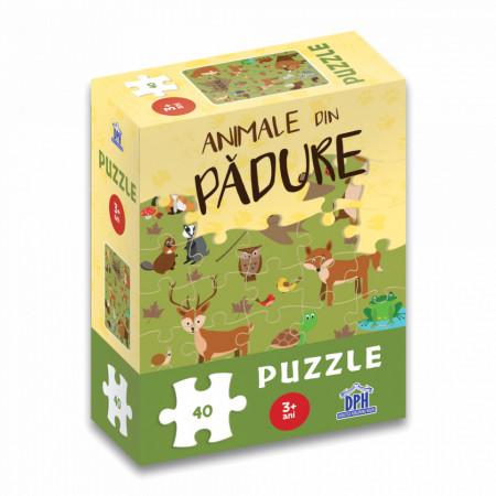 Animale din padure - puzzle de 40 de piese