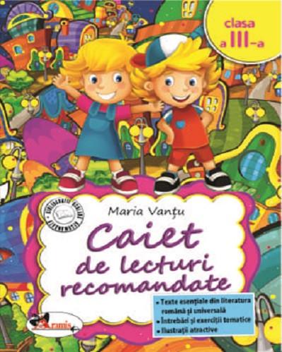 Caiet de lecturi recomandate pentru clasa a III-a
