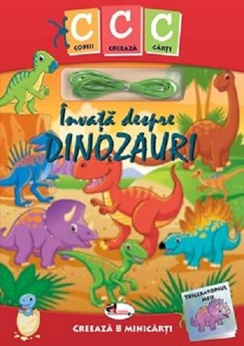 Copiii creeaza carti. Invata despre dinozauri - kit de creat 8 mini-carti