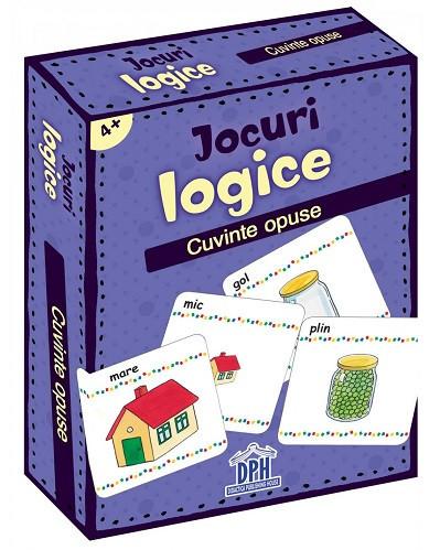 Jocuri logice. Cuvinte opuse - carduri, de la 4 ani