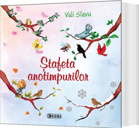 Stafeta anotimpurilor - poezii de Vali Slavu - coperta