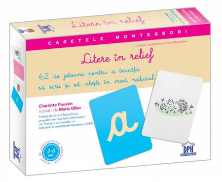 Casetele Montessori. Litere in relief