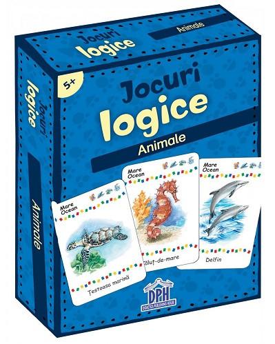 Jocuri logice. Animale - carduri, de la 5 ani