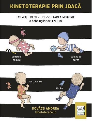 Kinetoterapie prin joaca - Exercitii pentru dezvoltarea motorie a bebelusilor de 1-9 luni - coperta