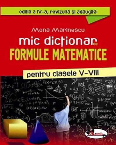 Mic dictionar de formule matematice pentru gimnaziu