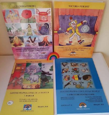 Pachet 4 carti de poezii, ghicitori, fabule si teatru pentru copii