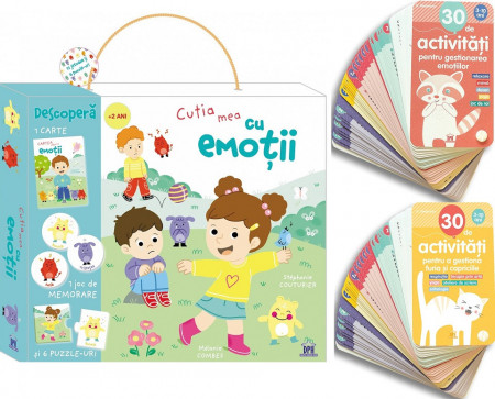 pachet promotional despre emotii pentru copiii de la 2 la 10 ani