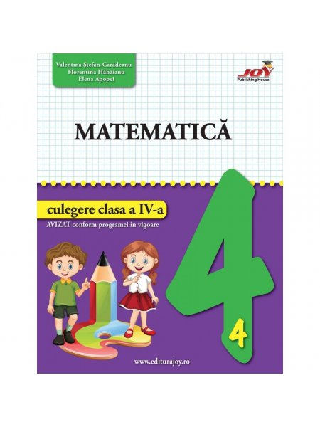 Ultimul exemplar! Matematica. Culegere. Clasa a IV-a