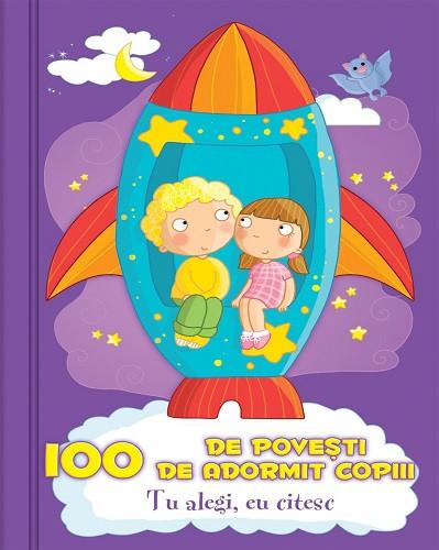 100 de povesti de adormit copiii - cutie cu 100 de jetoane cu povesti