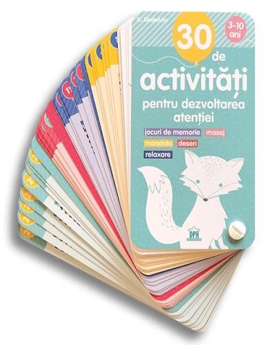 30 de activitati pentru dezvoltarea atentiei - carduri de activitati pentru copiii de 3-10 ani