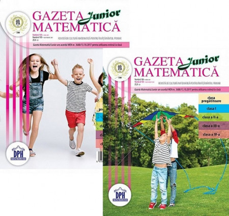 Gazeta Matematica Junior nr. 104 si nr. 105 - iunie, iulie-august 2021