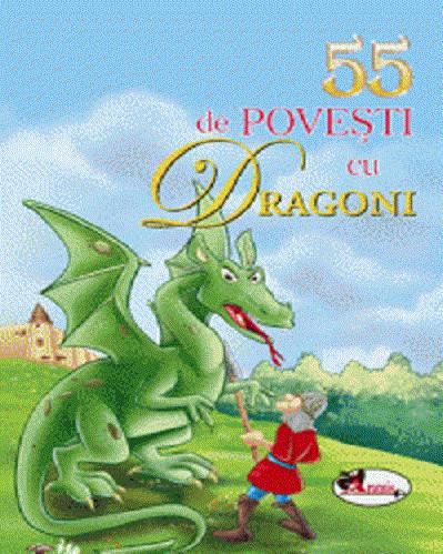 Pachet 5 carti cu cate 55 de povesti - 55 de povesti cu dragoni