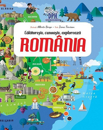 Romania - Calatoreste, Invata, Exploreaza - set puzzle si carte