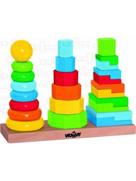 Set turnuri pe suport - din lemn