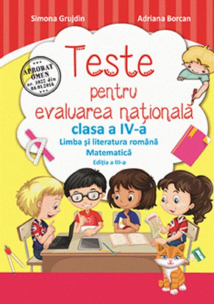 Teste pentru evaluarea nationala. Clasa a IV-a - coperta
