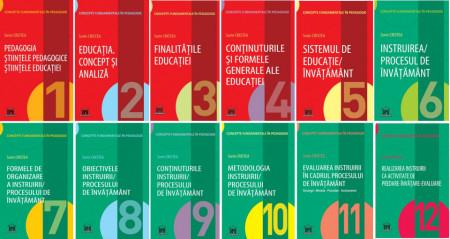 """Pachet 12 vol. """"Concepte fundamentale in pedagogie"""" - pentru titularizare, definitivat si gradul II - transport gratuit"""