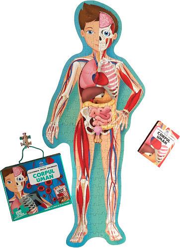 Calatoreste, Invata, Exploreaza. Corpul uman - set puzzle 210 piese si carte - interior 1