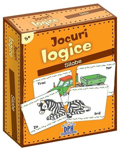 Jocuri logice. Silabe - set de carduri care dezvolta atentia si concentrarea copiilor, de la 5 ani