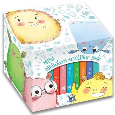 Minibiblioteca emotiilor mele - cutie despre emotii cu 6 carti integral cartonate
