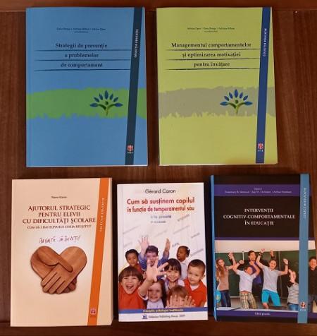 Pachet promo Consiliere - 5 carti avizate, utile consilierilor scolari si psihologilor