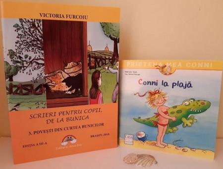 """Pachet promo """"Vacanta mare"""" - """"Povesti din curtea bunicilor"""" si """"Prietena mea Conni. Vol. 7 - Conni la plaja""""."""