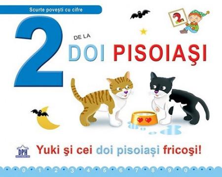 2 de la Doi pisoiasi - carte cu poveste ilustrata si activitati
