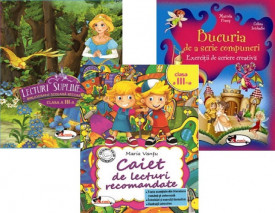 Pachet Lectura - clasa a III-a: Caiet de lecturi recomandate, Lecturi suplimentare, Bucuria de a scrie compuneri