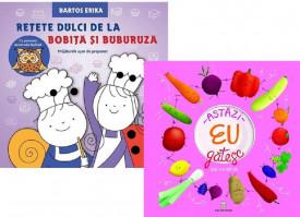 "Pachet ""Mini-chef"" - ""Astazi eu gatesc"" si ""Retete dulci de la Bobita si Buburuza"""