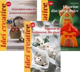 """Pachet """"Craciun creativ 2"""": """"Figurine din turta dulce"""", """"Figurine si ornamente din aluat"""", """"Decoratiuni naturale pentru toamna si iarna"""""""