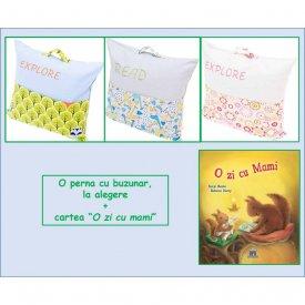 """Pachet PROMO """"Carte in dar"""" - O perna cu buzunar si cartea """"O zi cu mami"""""""