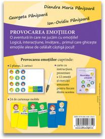 Provocarea emotiilor, editia a II-a - joc de familie de descoperire a emotiilor. Recomandat de la 6 ani - verso cutie