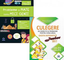 Pachet Sunt bun la mate - clasa a IV-a: Probleme de mate pentru mici genii, Culegere de exercitii si probleme Gazeta Matematica Junior