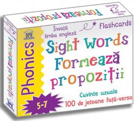 Sight words. Formeaza propozitii - 100 de jetoane