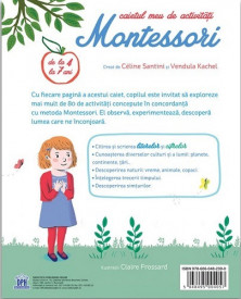 Caietul meu de activitati Montessori. Cifre si litere - coperta 2