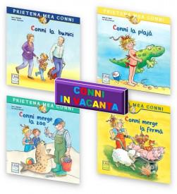 Pachet 2-4 ani Conni in vacanta: Conni la bunici, Conni la plaja, Conni merge la zoo, Conni merge la ferma
