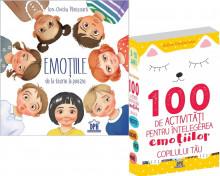 """Pachet PROMO """"Exploram emotiile"""": """"Emotiile de la teorie la poezie"""" si """"100 de activitati pentru intelegerea emotiilor copilului tau"""""""