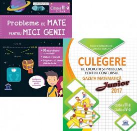 Pachet Sunt bun la mate - clasa a III-a: Probleme de mate pentru mici genii, Culegere de exercitii si probleme Gazeta Matematica Junior
