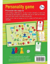 Personality game. Provocari din viata ta - coperta verso - joc de explorare a emotiilor pentru copii de la 7 ani