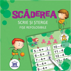 Scrie si sterge. Fise refolosibile. Scaderea