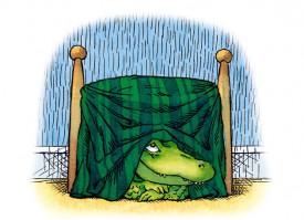 Am un crocodil sub pat - poveste despre teama copiilor de intuneric - interior