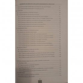 Elemente de didactica aplicata in invatamantul prescolar - cuprins