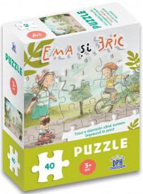 Ema si Eric in parc - Puzzle de 40 de piese