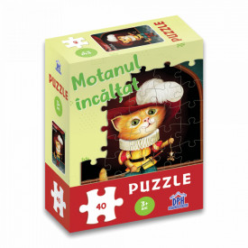 Motanul Incaltat - puzzle 40 de piese